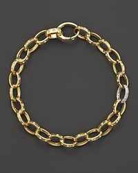 Roberto Coin 18k Yellow Gold Pois Moi Diamond Chain Bracelet