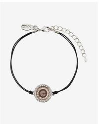 Express Rose Gold C Initial Etched Disc Bracelet