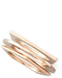 Eddie Borgo Set Of 3 Geometric Bangles Rose Golden