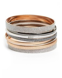Topshop Set Of 8 Glitter Bangles