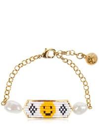 Shourouk Moodz Pearl Happy Face Bracelet