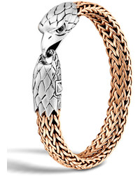 John Hardy Silverbronze Eagle Head Chain Bracelet