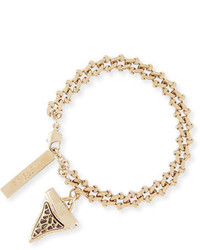 Givenchy Small Golden Shark Tooth Charm Bracelet