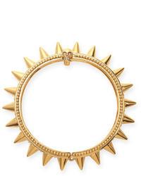 Alexander McQueen Spiked Yellow Gold Hinge Bracelet