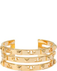 Tory Burch Stacked Logo Stud Cuff