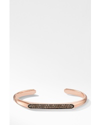 David Yurman Streamline 18k Gold Cuff Bracelet With Cognac Diamonds