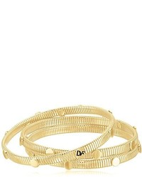 Diane von Furstenberg Summer Disco Circle Snake Chain Gold Bangle Bracelet