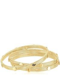 Diane von Furstenberg Summer Disco Circle Snake Chain Gold Bangle Bracelet