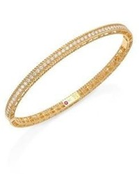 Roberto Coin Symphony Braided Diamond 18k Yellow Gold Bracelet
