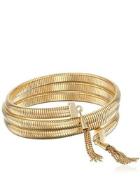 Vince Camuto Tassel Coil With Gold Chain Bracelet