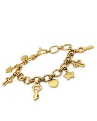 Tioneer Gold Plated Stainless Steel Multiple Charm Bracelet