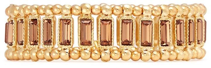 Philippe Audibert Titia Crystal Metal Bead Elastic Bracelet