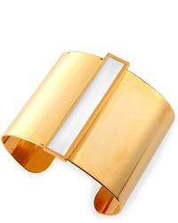 Tuleste Enamel Channel Cuff Bracelet Whitegolden