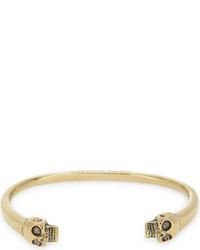 Alexander McQueen Twin Textured Skull Bracelet
