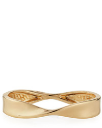 Lydell NYC Twisted Hinged Bangle Bracelet Golden