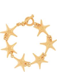 Valentino Gold Tone Bracelet One Size