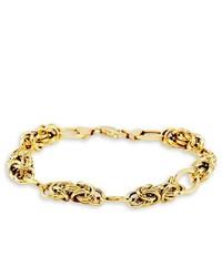 VistaBella Ladies 14k Bonded Gold Chain Twisted Link Bracelet