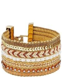 GUESS Wide Mixed Media Chain Luxe Bracelet Bracelet