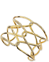 Alexis Bittar Yellow Golden Crystal Crisscross Barbed Cuff