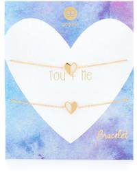 Gorjana You Me Heart Bracelet Set