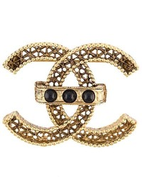 Chanel Vintage Cc Bead Detail Brooch