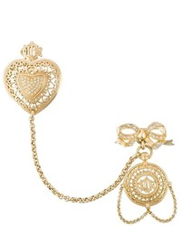 Christian Dior Vintage Heart Pendant Brooch