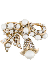 Ermanno Scervino Embellished Bow Brooch