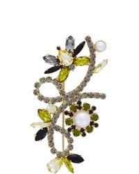 Erdem Gold Crystal Bee Brooch