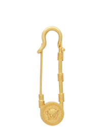 Versace Gold Oversized Safety Pin Brooch