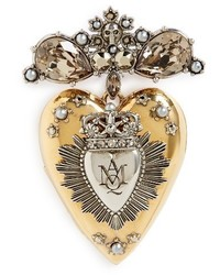 Alexander McQueen Heart Locket Brooch