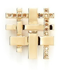 St. John Lattice Crystal Pav Brooch