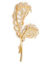 Nadri Pave Double Feather Pin