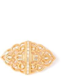 Saint Laurent Yves Vintage Baguette Crystal Brooch