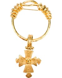 Chanel Vintage Cross Ring Brooch