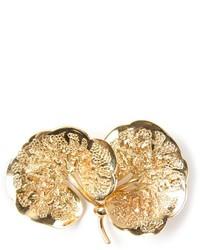 Christian Dior Vintage Leaf Brooch