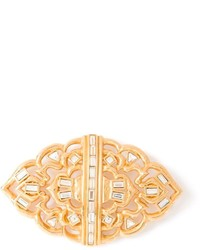 Saint Laurent Yves Vintage Baguette Crystal Brooch