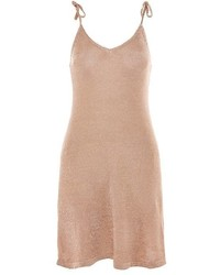 Topshop Metal Yarn Camisole Dress