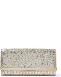 Milla glittered canvas clutch gold medium 629160