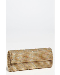 Crystal chevron flap clutch metallic medium 4065213