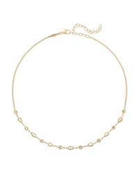 Jacquie Aiche 14 Karat Gold Diamond Choker