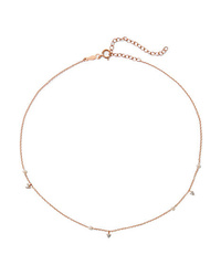 Catbird Dew Drop 14 Karat Gold Pearl And Diamond Choker