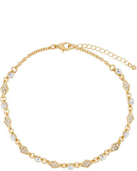 Fragments for Neiman Marcus Fragts Crystal Choker Necklace Golden