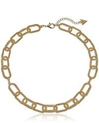 GUESS Frozen Chain Gold Choker Necklace