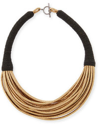 Brunello Cucinelli Monili Wrapped Leather Choker