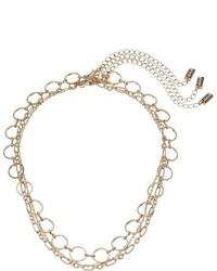 Steve Madden Three Piece Chain Choker Set Necklace