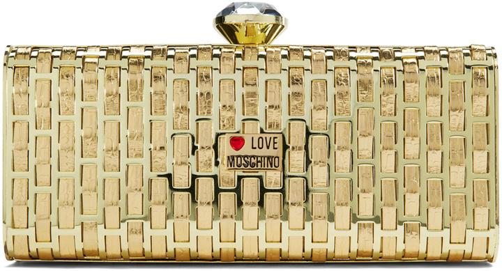 89c29a5e4ce ... Gold Clutches Love Moschino Accessories Yellow Brick Road Clutch ...