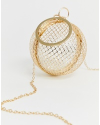 ASOS DESIGN Cage Sphere Clutch Bag