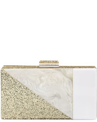 Neiman Marcus Colorblock Resin Box Clutch Bag