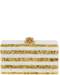 Edie Parker Jean Confetti Striped Box Clutch Bag