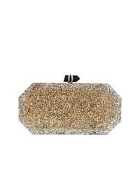 Marchesa Marbeled Box Clutch Bag